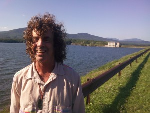 Adam Bernstein at the Ashokan Reservoir